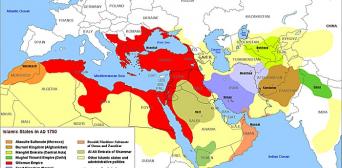 Карта тюркських держав середньовіччя