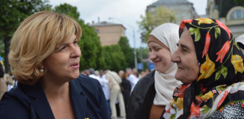 Delegation meets mothers in Kiev who lost children in ongoing conflict in Ukraine's eastern regions since 2014