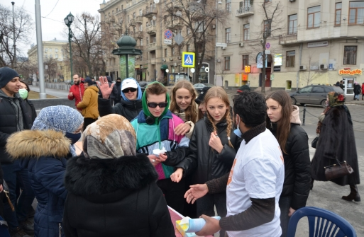 """""""Inspired by Muhammad"""" Action was held in 10 cities of Ukraine"""