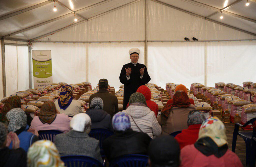 Ramadan-2019: Grocery packs from German Muslimehelfen for Ukrainian Brothers and Sisters in Faith